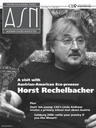 Horst Rechelbacher - Center for Austrian Studies - University of ...