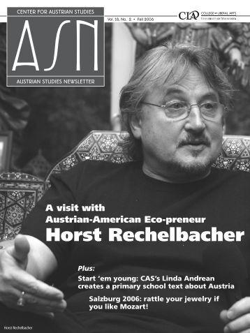 Horst Rechelbacher - Center for Austrian Studies - University of ...