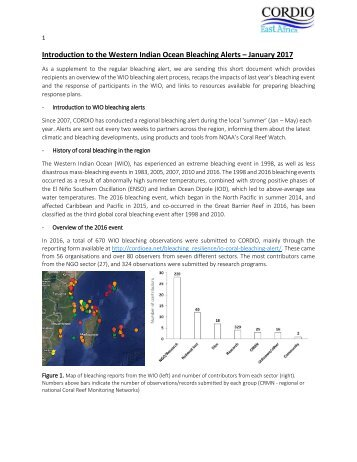 Introduction to the WIO Bleaching Alerts