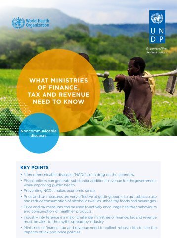 WHAT MINISTRIES OF FINANCE TAX AND REVENUE NEED TO KNOW