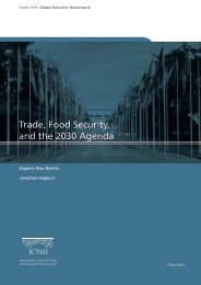 Trade Food Security and the 2030 Agenda