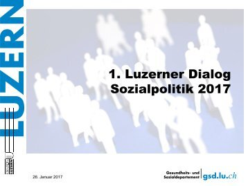 Luzerner Dialog Sozialpolitik
