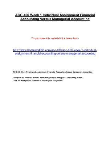 Financial accounting group assignment
