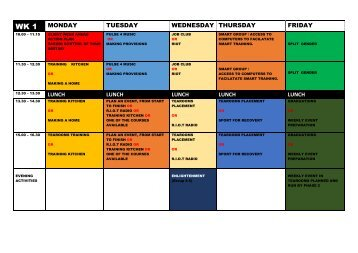 ROLLING 4 WEEK TIMETABLE WK 1--BOOKLET