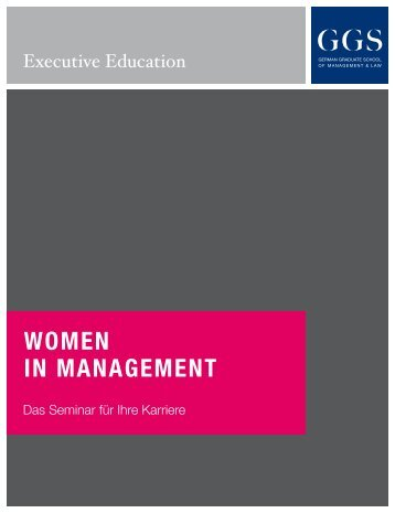 "Broschüre ""Women in Management"""