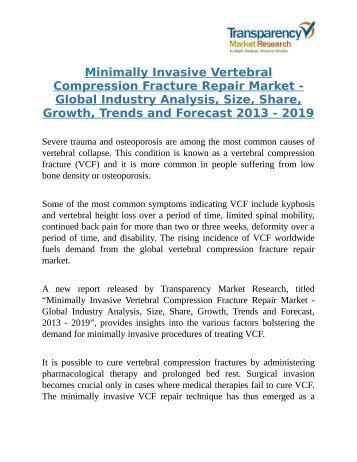 Minimally Invasive Vertebral Compression Fracture Repair Market
