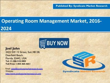 Operating Room Management Market, 2016-2024