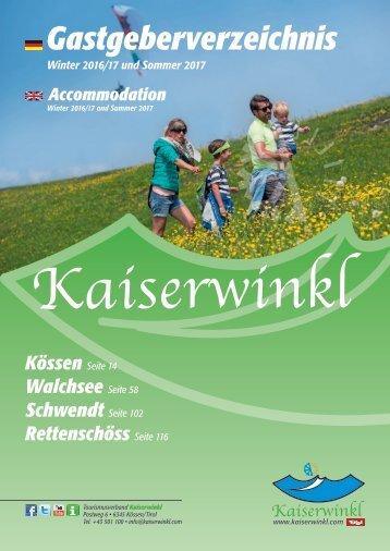 Gastgeberverzeichnis Winter 2016/17 und Sommer 2017