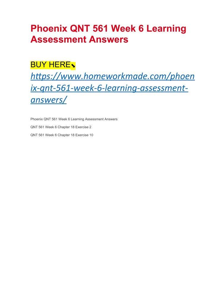 Qnt 561 Week 5 Problem Set Ii Research Paper Writing