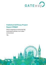 Published GATEway Project Report PPR807