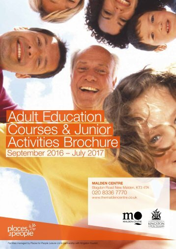 Adult Education Courses & Junior Activities Brochure