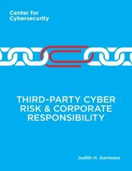 THIRD-PARTY CYBER RISK & CORPORATE RESPONSIBILITY
