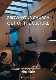 GROW YOUR CHURCH OUT OF THE CULTURE