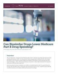 Can Biosimilar Drugs Lower Medicare Part B Drug Spending?