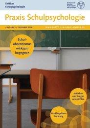 Praxis Schulpsychologie