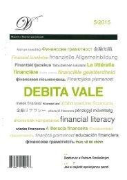 Časopis DEBITA VALE - Spotřeba pro život 2015