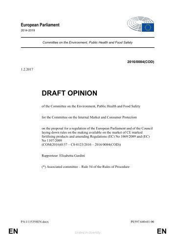DRAFT OPINION EN EN