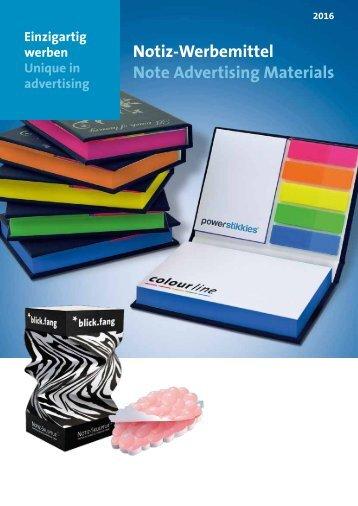 Werbemittel Haftnotizen, Zettelklötze, Notizquader, Zettelboxen