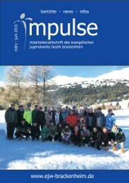 Impulse März bis Juni 2015