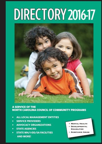 DIRECTORY 2017 - NC Council of Community Programs.
