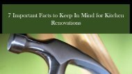7 Important Facts to Keep In Mind for Kitchen Renovations