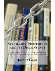 Scholarly Publishing and Its Discontents