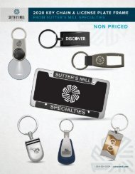 Key Chain and License Plate Frame Brochure - No Pricing