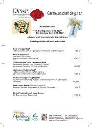 Nudelwochen 2020 im Gasthof Rose, Oy-Mittelberg