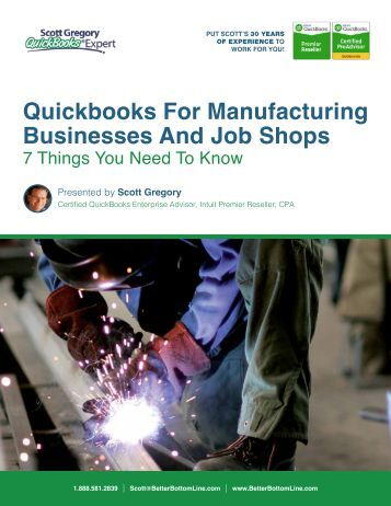 Quickbooks For Manufacturing Businesses And Job Shops