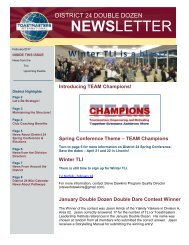 February 2017 Toastmasters District 24 Double Dozen Newsletter Issue