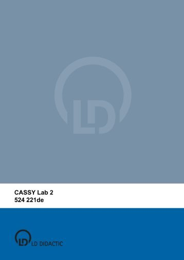 CASSY Lab 2 - Institut für Experimentelle Kernphysik