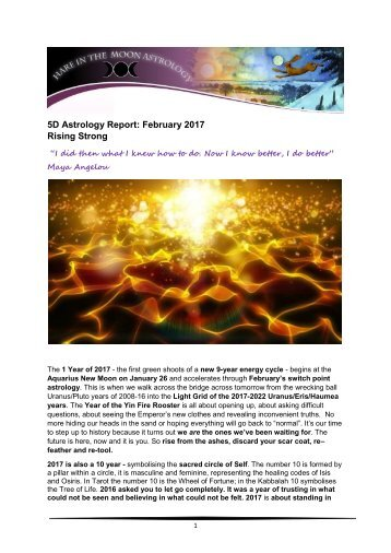 5D Astrology Report February 2017 Rising Strong