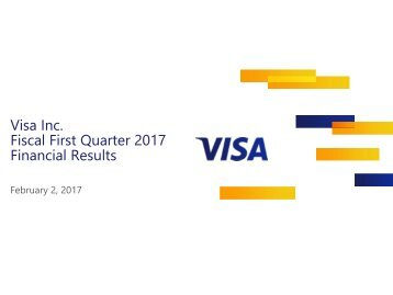 Visa Inc Fiscal First Quarter 2017 Financial Results