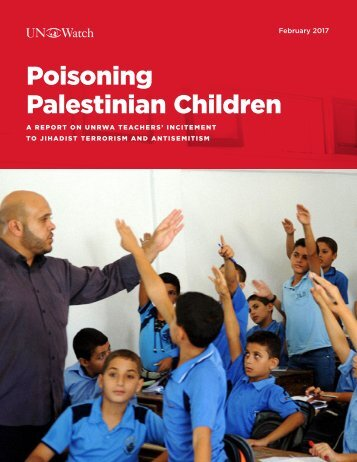 Poisoning Palestinian Children