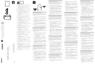 Philips Lunettes pour jeux à deux joueurs en plein écran - Guide de mise en route - LIT
