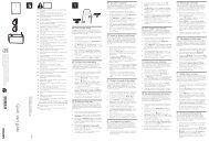 Philips Lunettes pour jeux à deux joueurs en plein écran - Guide de mise en route - TUR