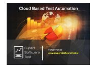 Cloud Based Test Automation