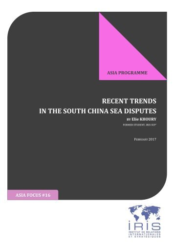 IN THE SOUTH CHINA SEA DISPUTES