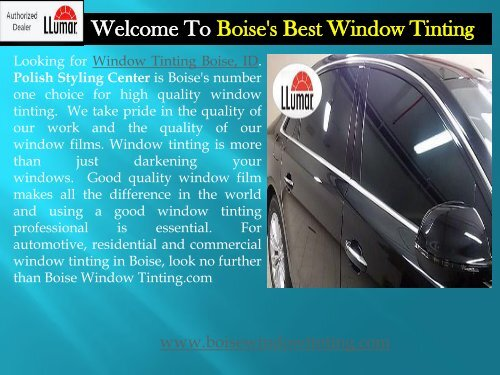Home Window Tinting Boise|Boise's Best Window Tinting