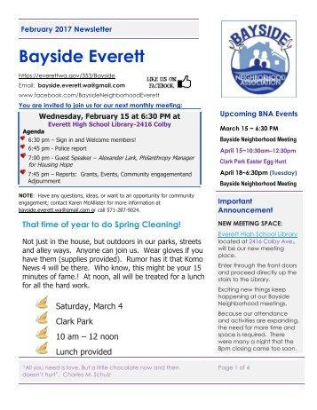 February 2017  Bayside Everett News