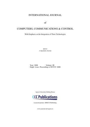CCCPublications - International Journal of Computers ...