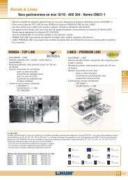 Bacs gastronormes en inox 18/10 - AISI 304 - Norme EN631-1