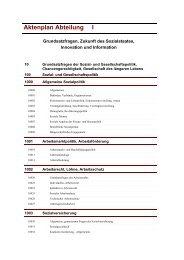 Aktenplan Abteilung I - Bundesministerium für Arbeit und Soziales