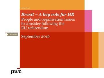 to consider following the EU referendum September 2016