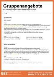 Führungen für Gruppen, Vereine & Firmen-individuelle Termine-EEZ-Aurich-2017