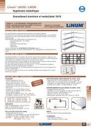 Hygiënische rekstellingen Linum® LN150 / LN250