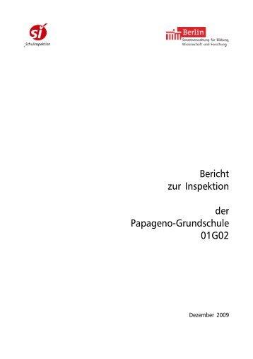 Bericht 01G02-01 - Papageno Grundschule