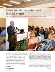 neue Trends, Techniken und Entwicklungen