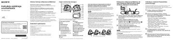 Sony NWZ-WS615 - NWZ-WS615 Istruzioni per l'uso Polacco