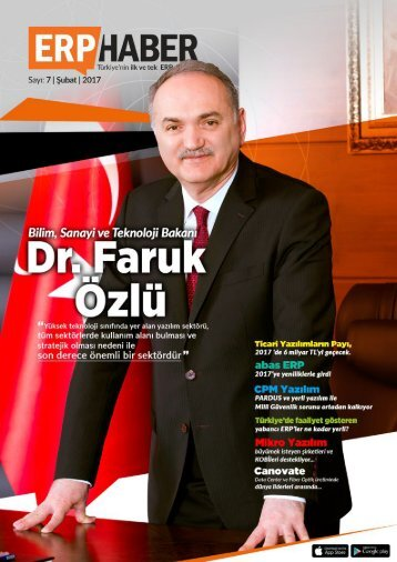 ERP HABER Dergisi Şubat 2017 Sayısı